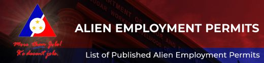 List of Published Alien Employment Permits